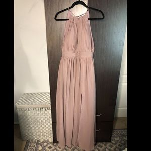 Formal purple bridesmaid dress